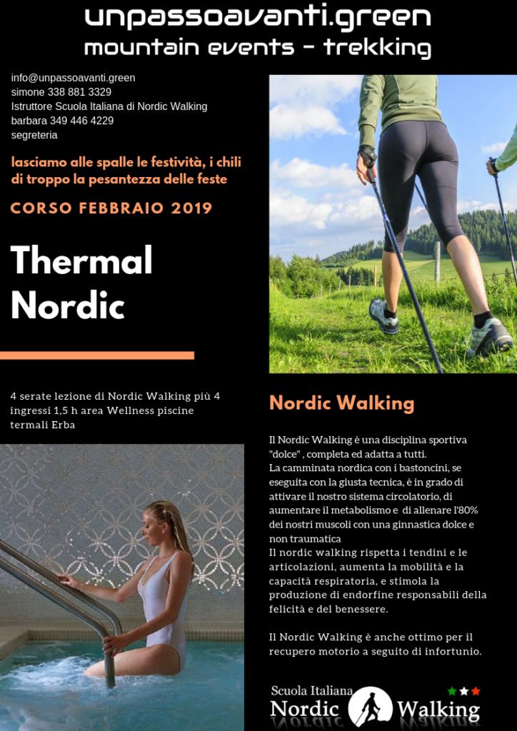 nordic walking piscina termale